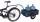 Leichter Fahrradanhänger, 150 kg Traglast, 690 x 425 mm, blau