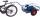 Fahrradanhänger ohne Bordwand, 200 kg Traglast, 785 x 435 mm, blau