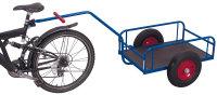 Fahrradanhänger ohne Bordwand, 400 kg Traglast, 825 x 535 mm, blau
