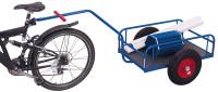 Fahrradanhänger ohne Bordwand, 400 kg Traglast, 1125 x 535 mm, blau