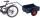 Fahrradanhänger mit Bordwand, 200 kg Traglast, 765 x 435 mm, blau