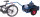 Fahrradanhänger mit Bordwand, 400 kg Traglast, 805 x 535 mm, blau