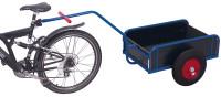 Fahrradanhänger mit Bordwand, 400 kg Traglast, 1105 x 535 mm, blau