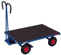 Handpritschenwagen ohne Bordwand, 700 kg Traglast, 1000 x 700 mm, blau