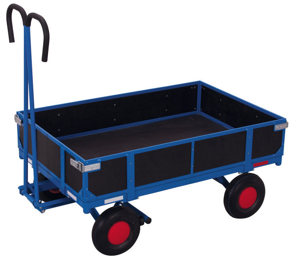 Handpritschenwagen mit Bordwand, 700 kg Traglast, 985 x 680 mm, blau