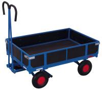 Handpritschenwagen mit Bordwand, 700 kg Traglast, 1185 x 780 mm, blau