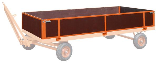 4 Bordwände,  kg Traglast, 3000 x 1500 mm, orange