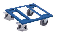 Kistenroller, 400 kg Traglast, 500 x 500 mm, blau