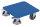 Kistenroller mit Riffelblechladefläche, 400 kg Traglast, 500 x 500 mm, blau