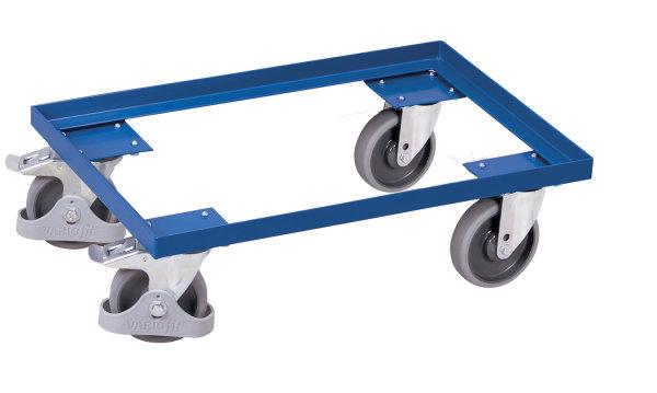 Euro-System-Roller, 250 kg Traglast, 605 x 410 mm, blau