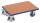 Euro-System-Roller mit Boden, 250 kg Traglast, 610 x 415 mm, blau