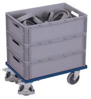 Euro-System-Roller mit Boden, 250 kg Traglast, 605 x 410...