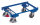 Euro-System-Roller mit Eckhülsen, 250 kg Traglast, 605 x 410 mm, blau