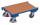 Euro-System-Roller mit Boden und Eckhülsen, 250 kg Traglast, 610 x 415 mm, blau