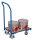 Euro-System-Roller mit Boden und Schiebebügel, 250 kg Traglast, 605 x 410 mm, blau
