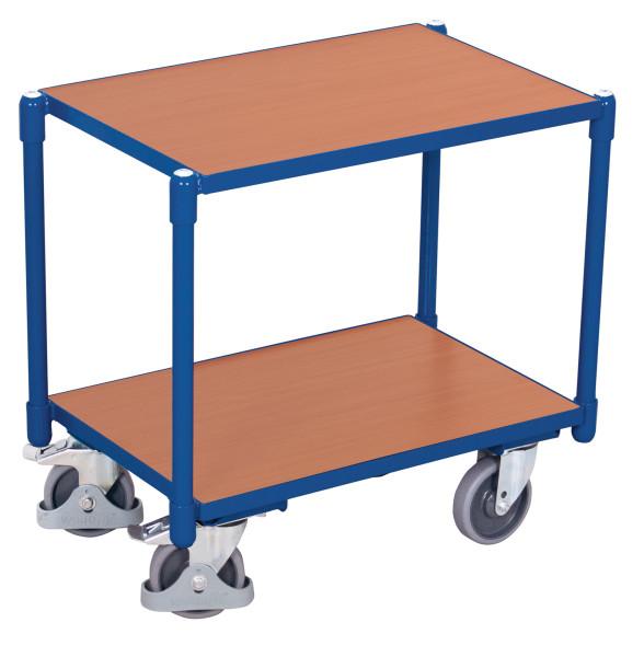 Euro-System-Roller mit 2 Ladeflächen, 250 kg Traglast, 605 x 410 mm, blau