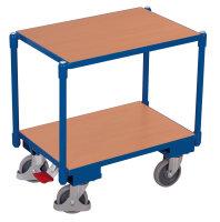 Euro-System-Roller mit 2 Ladeflächen, 250 kg Traglast, 610 x 415 mm, blau