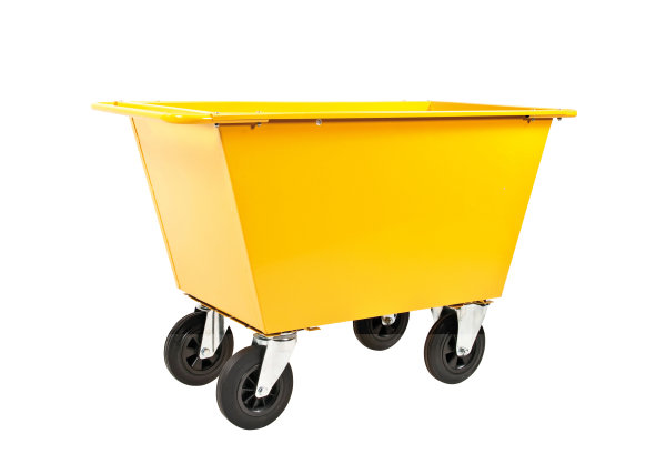 Abfallwagen 200 - 400 Liter, 400 kg Tragfähigkeit, Gelb
