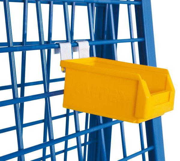 Materialkiste, Außenmaß: 160 x 105 x 75 mm (B/T/H), aus schlag- und stoßfestem Polyethylen