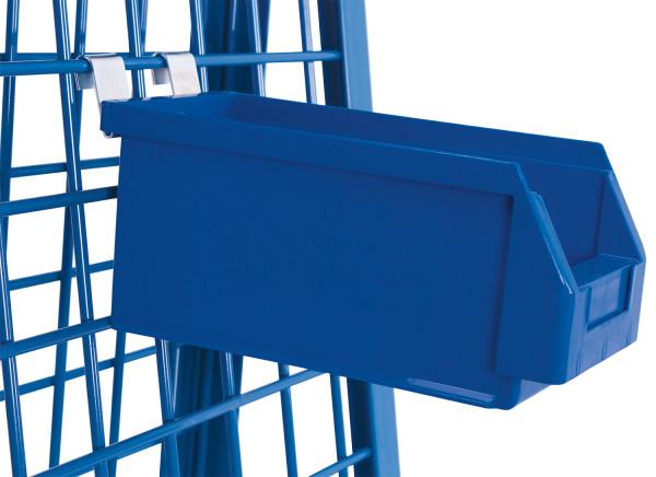 Materialkiste, Außenmaß: 290 x 140 x 130 mm (B/T/H), aus schlag- und stoßfestem Polyethylen