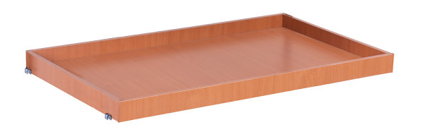 Tablett 965 x 555 mm, * 15 mm MDF-Platte, Oberfläche Buchendekor, * Innenabmessungen: 965 x 555 x 45 mm (B/T/H)