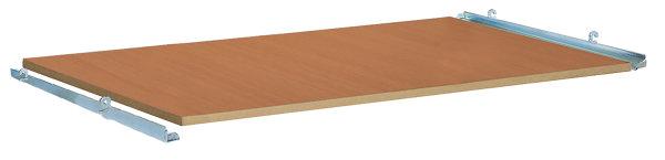 Etagenboden, für Ladefläche 850 x 500 mm, 18 mm MDF-Platte, Oberfläche Buchendekor
