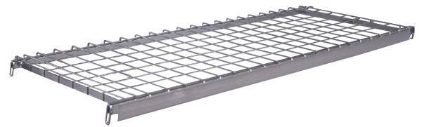 Etagenboden einhängbar, Drahtgittermasche 50 x 100 mm, mit Scannerleiste