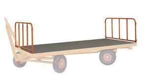 2 Stahlrohrwände,  kg Traglast, 2500 x 1250 mm, orange