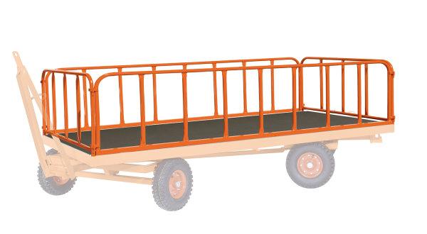 4 Stahlrohrwände,  kg Traglast, 2000 x 1000 mm, orange