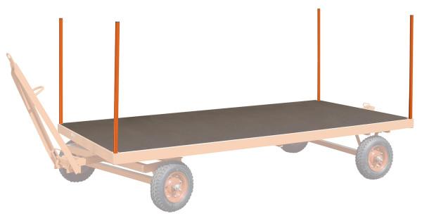 4 Einsteckrungen, für Industrieanhänger, Nutzlänge: 600 mm