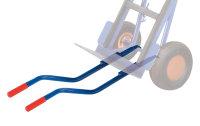 Tragholme für Treppentransport, Länge: 850 mm, bestehend aus 2 einzelnen Rundrohren Ø26,9 mm
