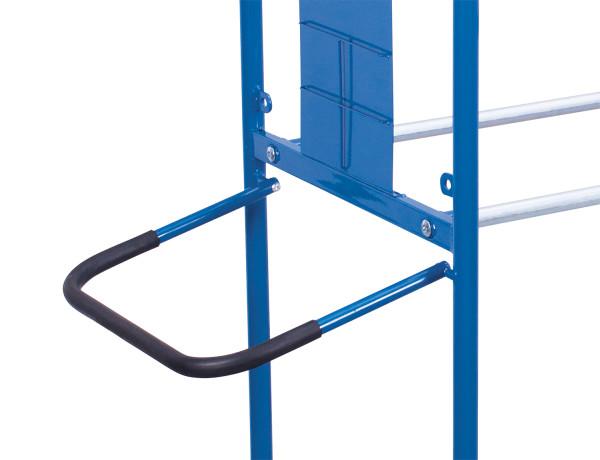 Schiebe/-Ziehbügel für Reifenwagen, mit weichem schwarzen Griffüberzug, Grifftiefe = 370 mm