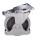Radsatz thermoplastische Gummibereifung, auf Kunststofffelge mit Präzisionsrillenkugellager, grau, 2 Stück Bremsrollen - dpg-200.050