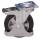 Radsatz Elastikvollgummibereifung, auf Aludruckgußfelge, mit Kugellager, schwarz, 2 Stück Bremsrollen - dpg-200.006