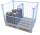 Palettenaufsatz Trenngitter, schräg, (nur für Typ 62 und 64), Abmessung: 750 x 400/800 mm (B/H)