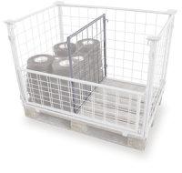 Palettenaufsatz Trenngitter, verzinkt, Innenmaße: 1.160 x 960 mm (B/T), für Palettenmaß: 1.200 x 1.000 mm (B/T)