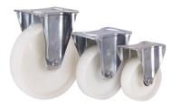 Bockrolle Polyamid, 125 x 38 mm, weiß, Radbreite: 38 mm, KN LL 03/125/38 R - FSTF