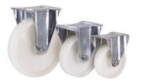 Bockrolle Polyamid, 200 x 50 mm, weiß, KN L 4/200/50R-FSTF , BH: 235  GW: 62  AL: 60