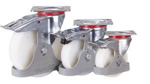 Bremsrolle Polyamid, 150 x 40 mm, weiß, KN BB 03/125/38 R , BH: 155  GW: 52