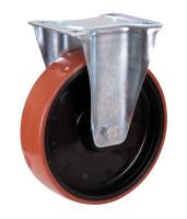 Bockrolle Polyurethan, 200 x 50  mm, DS B 4/200/50R, BH: 235  GW 62