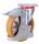 Bremsrolle Polyurethan, 200 x 50 mm, einteilige Aluminiumfelge mit beidseitig, eingespreßten Rillenlagern und fest aufvul-