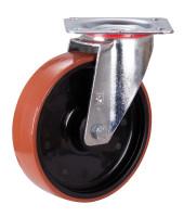 Lenkrolle Polyurethan, 200 x 50 mm, DS L 4/200/50R, BH: 235  GW:62  AL: 54