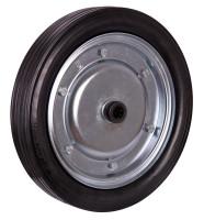Vollgummirad, 400 x 80 mm, schwarz, für Handpritschenwagen + Stahlflaschenkarren, Raddurchmesser: 400 mm