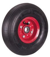 Luftrad 260 x 85 mm, schwarz, Durchmesser 260 x 85 mm, Rad mit Stahlfelge 1,8 mm, feuerrot-