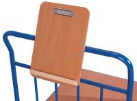 Schreibtafel für Format DIN A4, Holz mit Papierklammer und , Bleistiftablage Format hoch