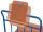 Schreibtafel für Format DIN A4, Holz mit Papierklammer und , Bleistiftablage Format quer