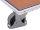 Stoßschutzleiste, Höhe: 30 mm, aus grauem Kunststoffprofil