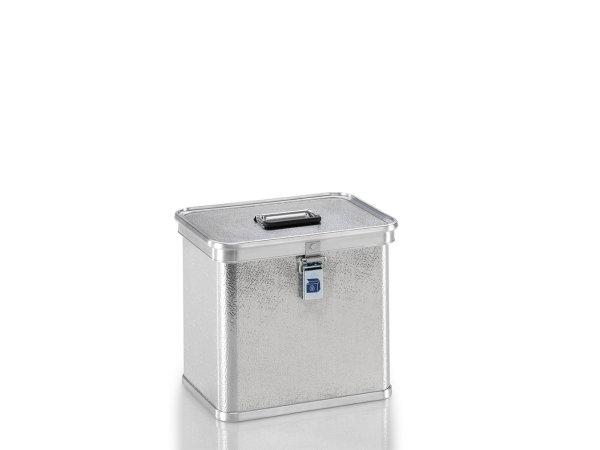 Transportkiste aus Strukturblech, G®-professional BOX A 1599 / 26, 353x253x310 mm, Tragkraft 30 kg, aus Aluminium