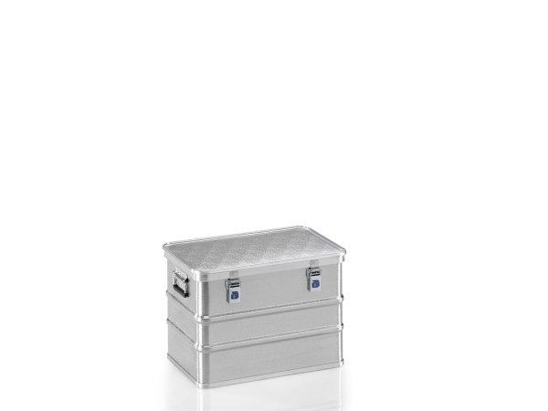 Transportkiste aus Strukturblech, G®-professional BOX A 1599 / 73, 553x353x380 mm, Tragkraft 50 kg, aus Aluminium