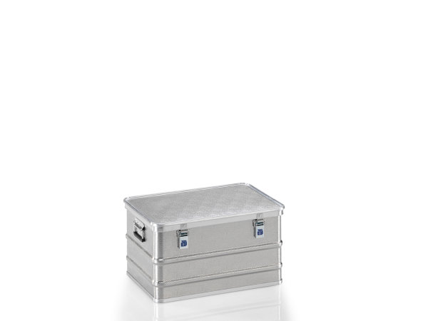 Transportkiste aus Strukturblech, G®-professional BOX A 1599 / 85, 620x420x328 mm, Tragkraft 50 kg, aus Aluminium